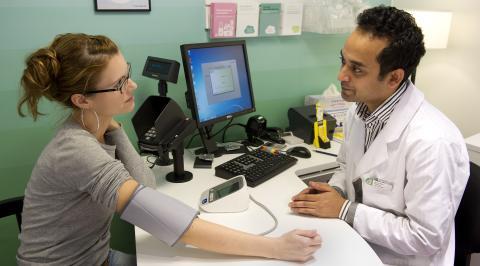 Blodtrycksmätning på Apoteket