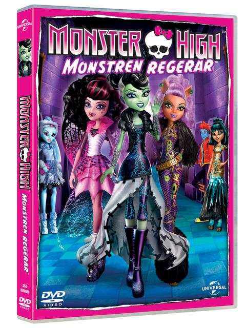 Monster High: Monstren regerar på DVD 24 oktober