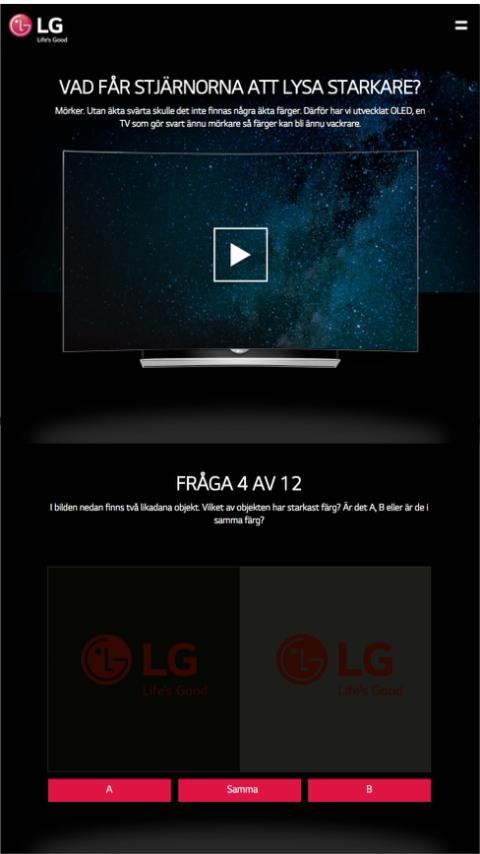 Instagram-annonsering drev trafik till kampanjsida för LG:s OLED-TV
