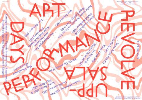 Program Revolve Performance Art Days 6-14/5 2016