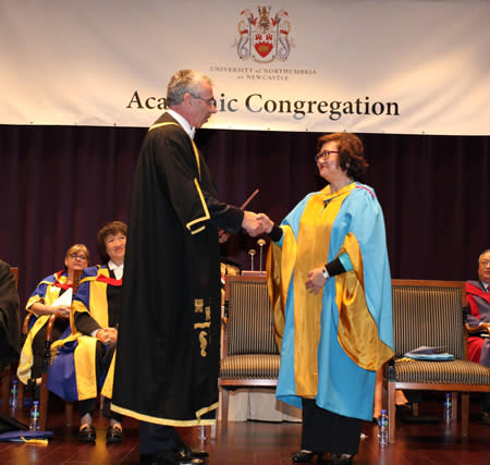 Northumbria honours Hong Kong civic leader