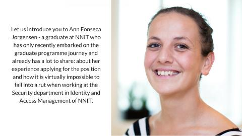 Meet Ann and get an insight into the life as graduate in NNIT