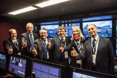 Il Giubileo in mondovisione live Ultra HD via satellite: reportage di un successo