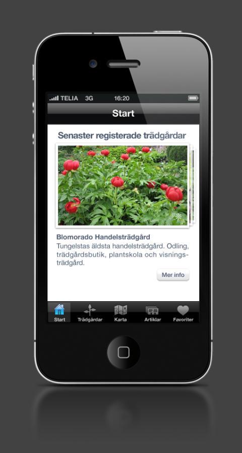 Lätt att hitta till Tusen Trädgårdar med ny app för Iphone, Ipad och Ipod. Bra kartor och beskrivningar.