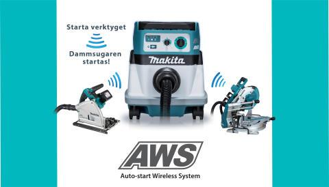 Makita lanserar AWS -  ett nytt system med Bluetooth®