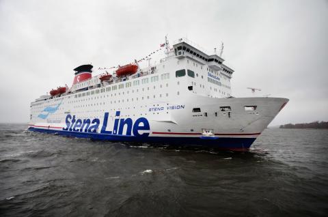 Nya Polenfartyget Stena Vision i trafik