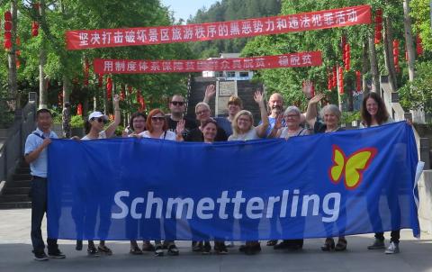 Zusammen mit Netzwerkpartner China Tours ins Reich der Mitte: Schmetterlinge auf exklusiver Inforeise unterwegs in China