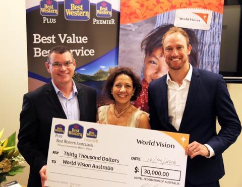 Best Western donerar 200 000 kr till organisationen World Vision i Australien