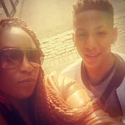 Corey with his mother, Keisha McLeod