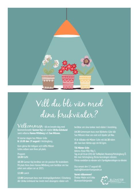Pressinbjudan till temadag om krukväxter