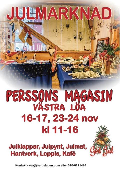 Perssons Magasin: Julmarknad 2019