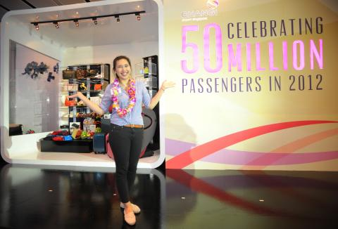 Changi Airport registers more than 50 million passengers in 2012