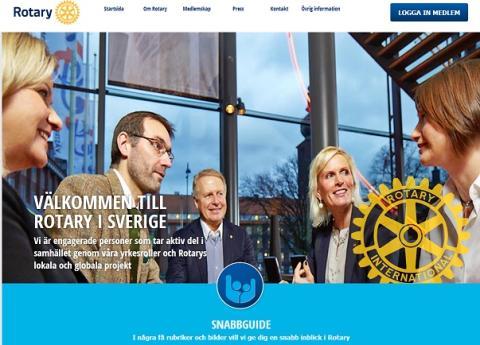 Rotary i Sverige visar upp ett nytt ansikte på sin nya webbsida