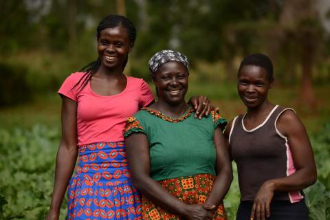 Margaret Muchanga med familj