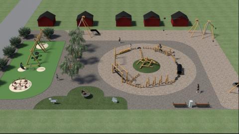 Gekås bygger 950 kvm lekplats i Gekåsbyn
