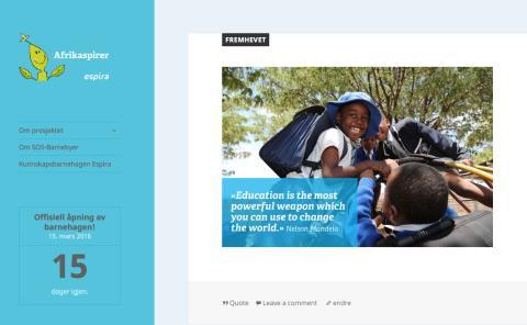 Lansering av blogg – Afrikaspirer