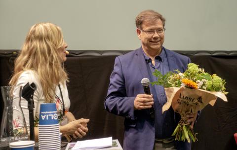 Vinnaren av Gröna Pennpriset, Leif Blomqvist.