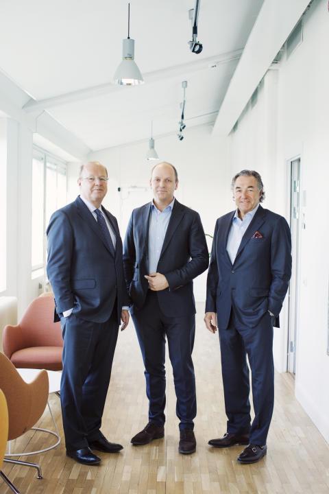 Anders Nyrén, Philip Siberg och Larry Leksell