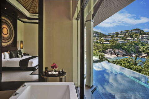 Guest room with ocean view Banyan Tree Samui