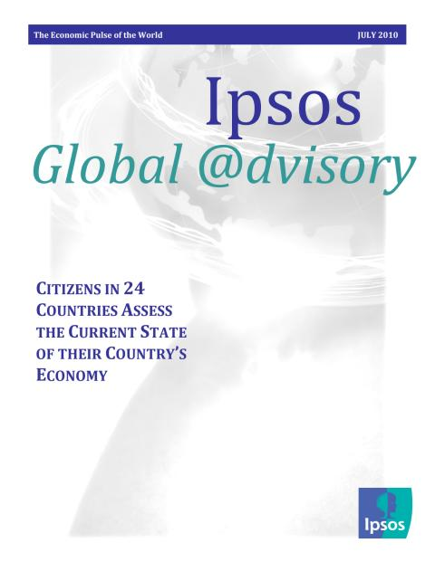 Ipsos/Global@dvisory: The Economic Pulse of the World, 100701 (eng)