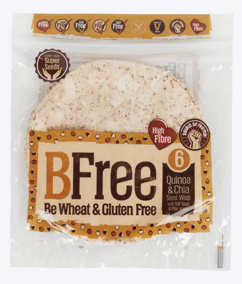 BFree wraps flerkorn med chia glutenfri melkefri