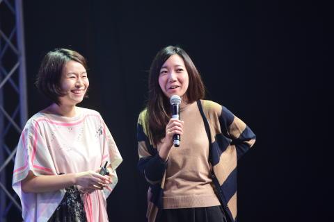 Lena Okajima and Rie Yamamoto (ALE) at the aerospace start-up showcase by Starburst Accelerator during SWITCH 2016