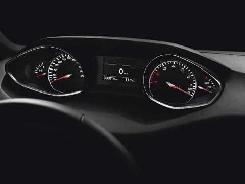 Den intuitiva instrumentpanelen på nya Peugeot 308