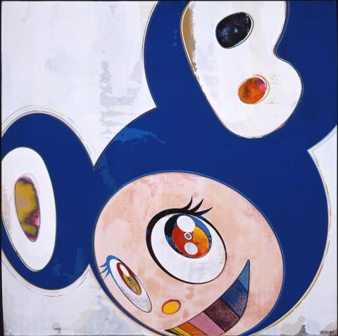 Takashi Murakami, And then, and then, and then, and then / Original Blue, 2006