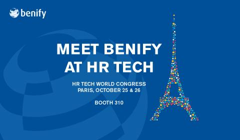Benify to Headline at HR Tech World Congress in Paris, October 25th and 26th