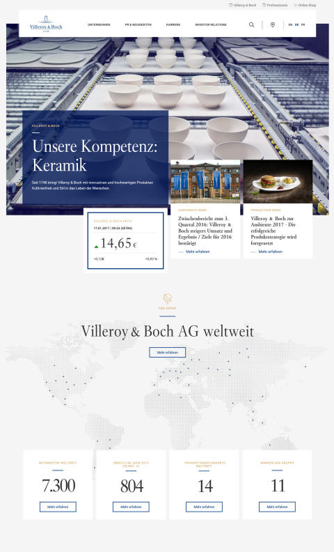 Corporate Website Startseite