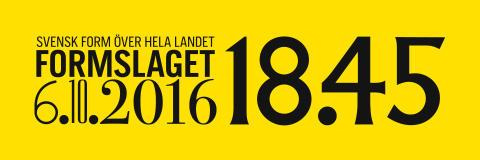 Svensk Forms födelsedag firas i hela landet 6 oktober 2016