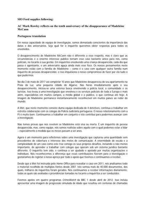 Portuguese translation of blog