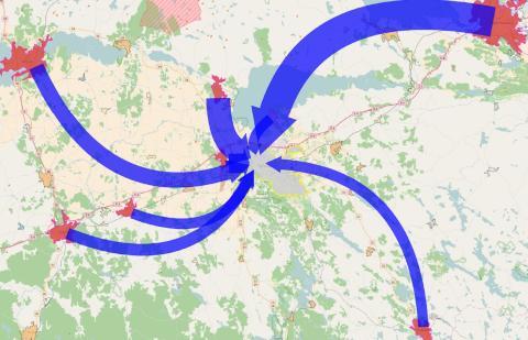 Över 30 000 pendlar till Linköpings tätort