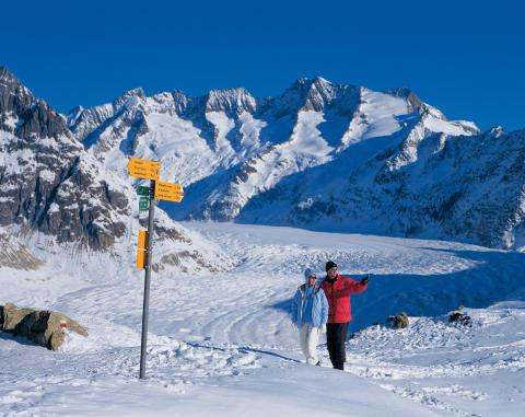 Trekking in der Gletscherwelt des UNESCO-Welterbes Schweizer Alpen Jungfrau-Aletsch