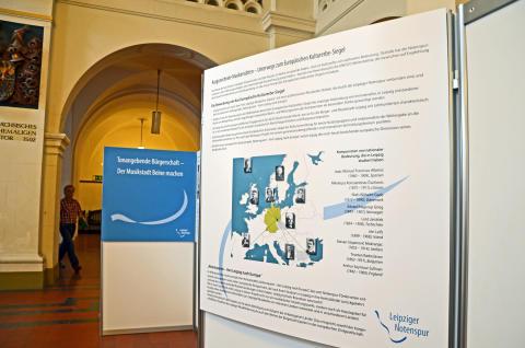 Informationstafel zur Bewerbung um das Europäische Kulturerbe-Siegel