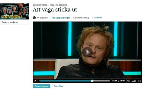 """Fredrik Svensson om ledarskap och att """"våga sticka ut"""" i programserien """"Rektorerna"""" Svt."""
