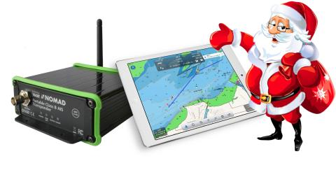 Santa's arrived with guidance by Digital Yacht's Nomad AIS!