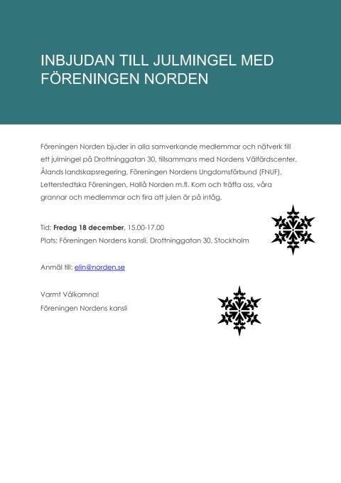 Julmingel hos Föreningen Norden