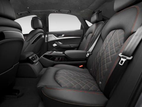 Audi S8 plus interior back seat