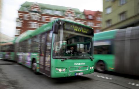 Skånetrafiken buss med VoIP