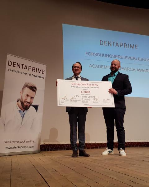 Forschungspreis Zahnmedizin 2019 verliehen: Zirkonimplantate haben Biss