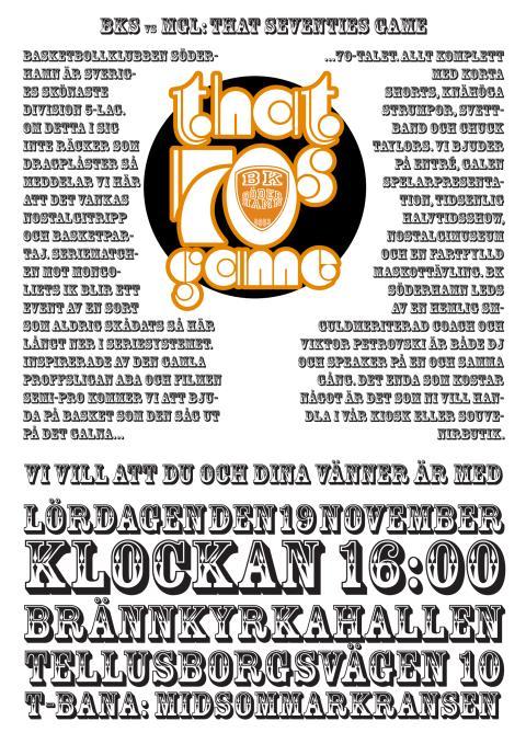 Grymmaste affischen - That 70´s Game