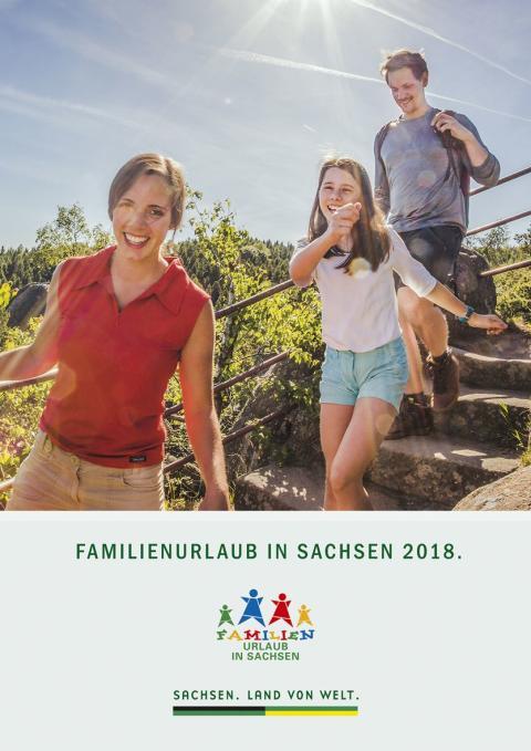 """Titelseite des neuen Kataloges """"Familienurlaub in Sachsen 2018"""""""