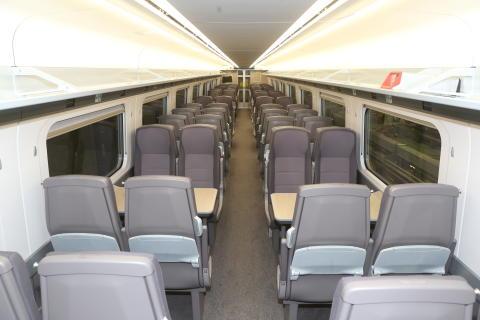 Train 800002 at North Pole Train Maintenance Centre