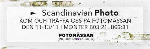 Scandinavian Photo ställer ut på Fotomässan 2016