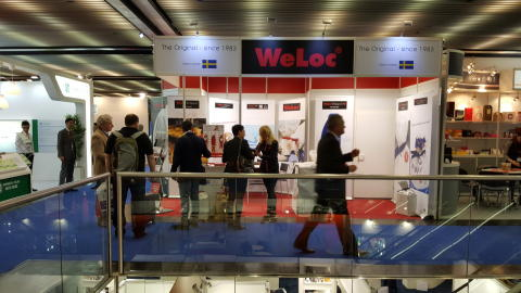 Success for our new bigger sack clip WeLoc Gripper 150 during the Interpack 2017 in Düsseldorf