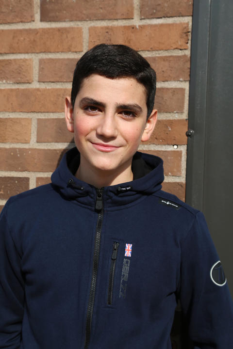 Jocke Prieto, elev i team 9 på Erlaskolan Södra