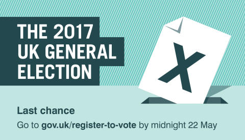 Just four days left to register to vote in the General Election