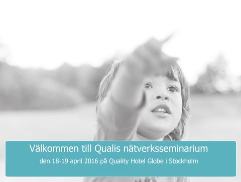 Qualis nätverksseminarium den 18-19 april