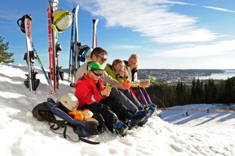 Pause fra skiløbet Ulricehamn
